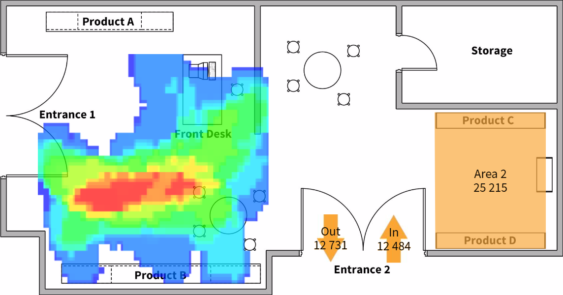NETAVIS sMart Floor Plan Heat Map EN