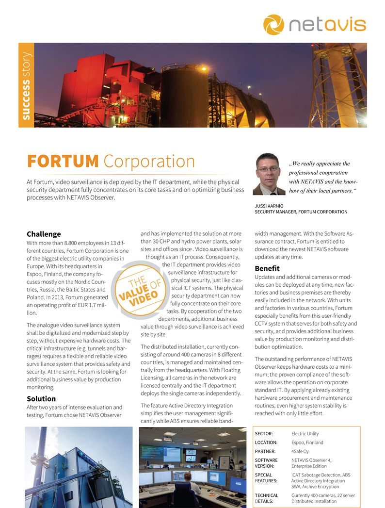 NETAVIS Success Stories-Fortum EN