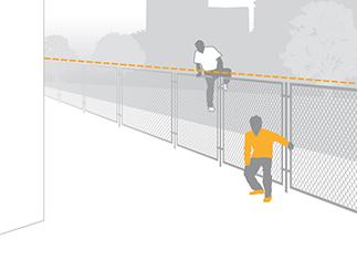 illustration von Perimeter Schutz