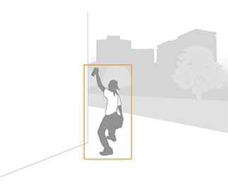 Illustration von loitering und stopped object detection